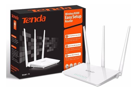 Router Repetidor Wifi Tenda F3 300mbp 3 Antenas 5dbi