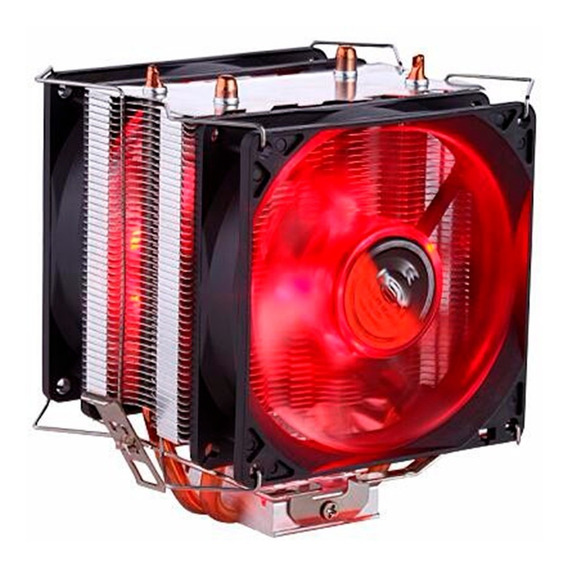 Cooler Dual Fan P/ Cpu Pc Intel Amd 775 1150 1151 Am3+ Am4