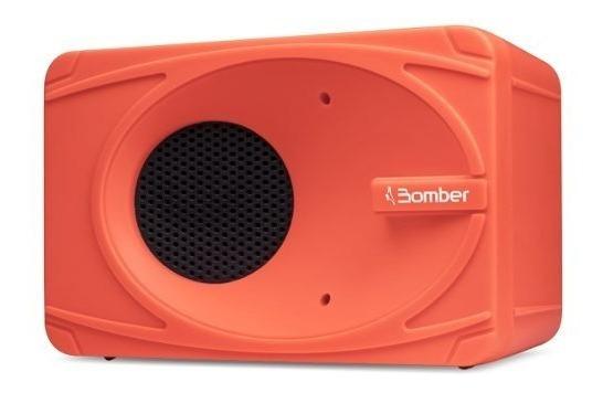 Mini Caixa De Som Bluetooth Portátil My Bomber Laranja Bt