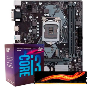 Kit Actualizacion Gamer Intel Core I3 8100 8gb Ddr4 8va Gen