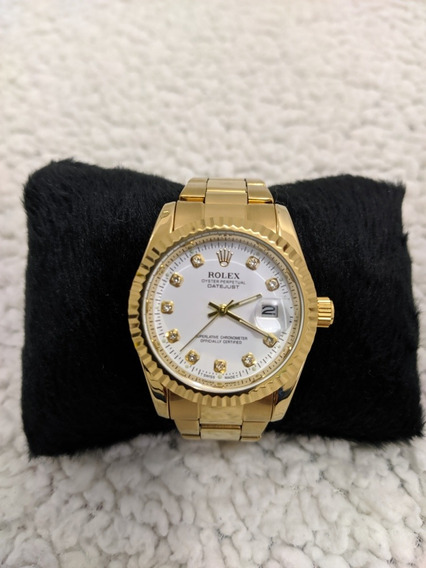 Relógio Rolex Feminino Aço Inoxidável A Prova Dágua