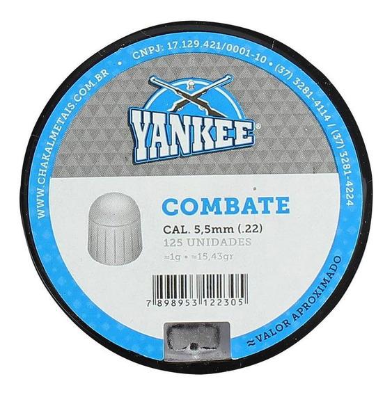 Chumbinho Munição Carabina Pressão Yankee Combate 5.5mm 125u