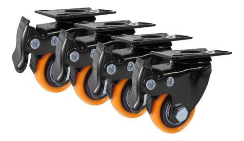 Rodachines 2 1/2 Giratorio Con Freno 110k X 4 Unidades