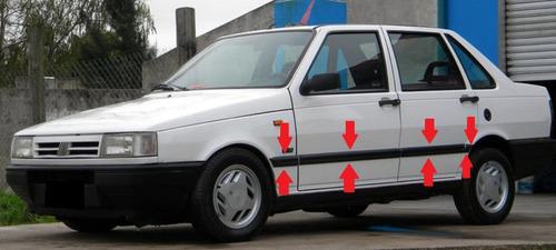 Fiat Duna Scr Baguetas Anchas Negras Molduras (8 Piezas) !!!