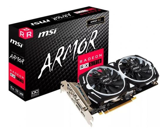 Placa De Video Msi Radeon Rx 570 Armor Oc 4gb Ddr5 256 Bit !