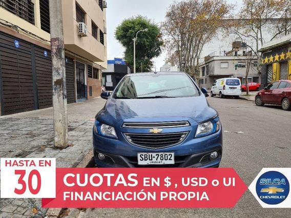 Chevrolet Onix Ltz 2014 Azul 5 Puertas