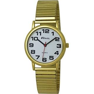 Ravel Reloj De Pulsera De Expansion Expansor Expansor De Oro