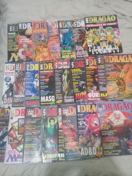 Lote Revistas Dragão, 1º Edição, Raro, Usado.