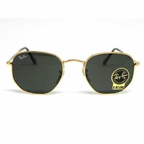 Óculos De Sol Hexagonal Feminino Masculino Preto Promoção