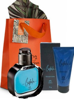 Natura Presente Perfume Biografia 50ml + Gel Pos Barba 75g