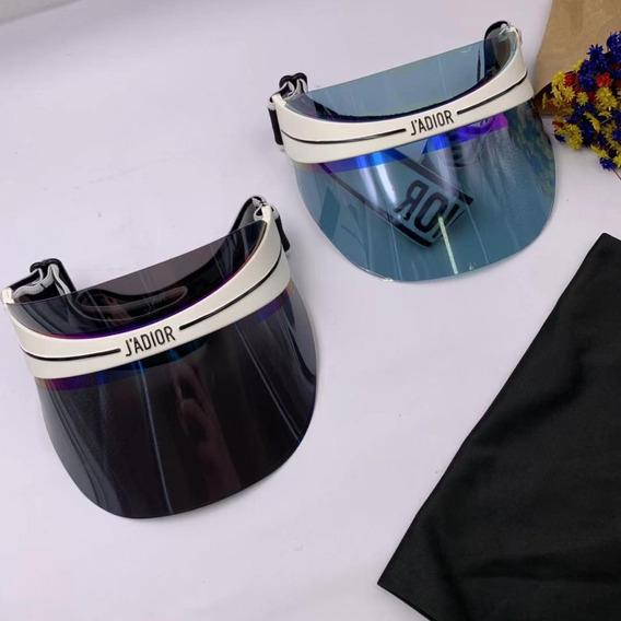 Viseira Acrílico Colorido Dior Preto