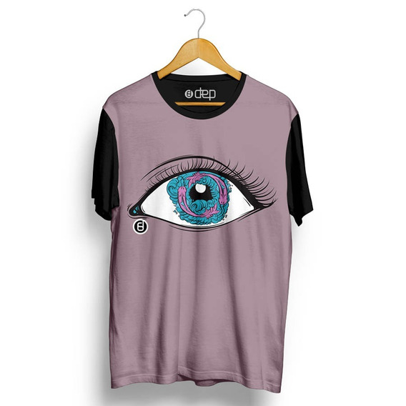 Camiseta Dep Olho Com Peixes Lilás