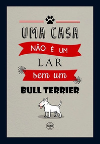 Quadro Cachorro Bull Terrier 20x30 - Novo