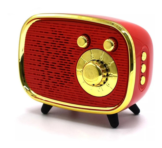 Caixa De Som Estilo Radio Antigo Retro Bluetooth Usb Card