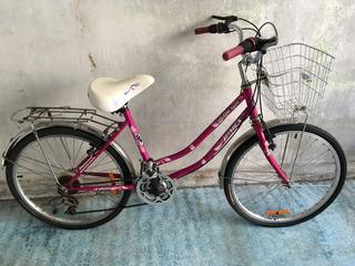 Bicicleta De R24 Mujer Con Casnasta