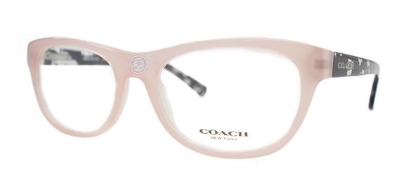 Lentes Coach Hc6081 5350 Blush/black Crystal Mosaic