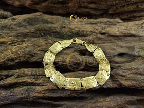 Pulseira Escrava Em Ouro Amarelo 18k - 750 - Egípcia 15,0g