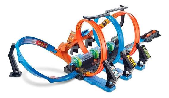 Hot Wheels Conjunto De Esteiras Corkscrew Crash - Mattel