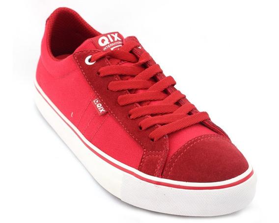 Tênis Qix Feminino Skate Casual Vermelho 100% Original Com Nota Fiscal