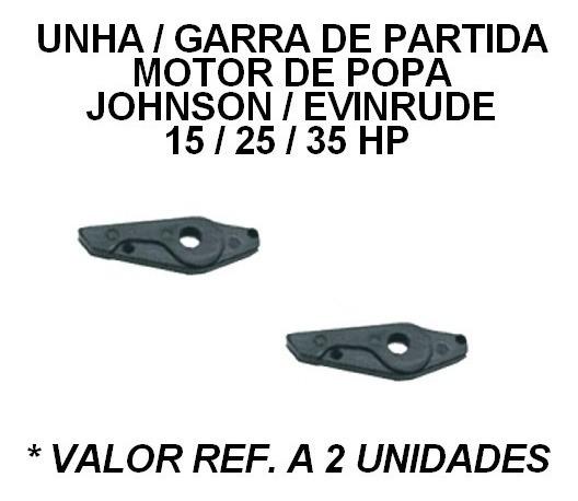 Unha Garra De Partida Motor Popa Johson Evinrude 15 25 35 Hp
