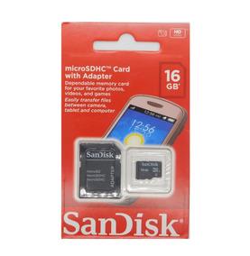 Cartão De Memória Micro Sd 16gb Sandisk 100%original Lacrado