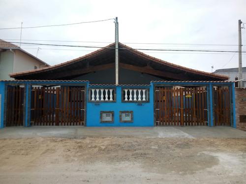 Casa Bem Conservada  02 Dormitórios Em Mongaguá R$ 175 Mil