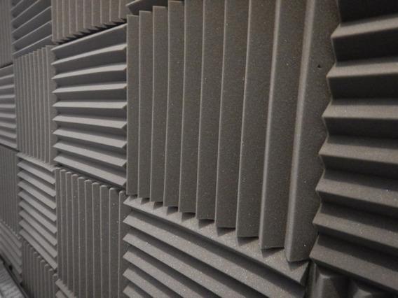 Kit De 34 Placas Acústica Flat 500 X 500 X 35mm Anti Chamas
