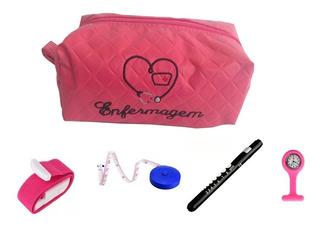 Kit De Bolso Colorido Com Necessaire Da Enfermagem - Estágio