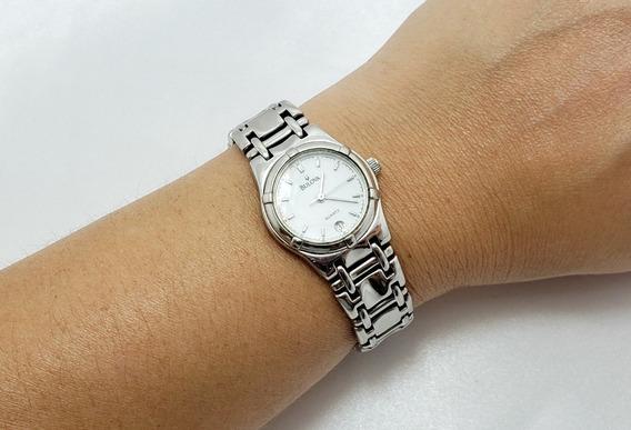 Relógio Feminino Bulova Em Aço Swiss Made