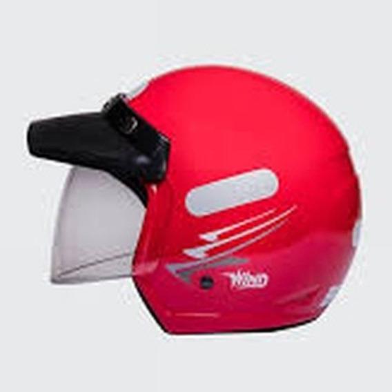 Capacete Moto Aberto Wind V2 Visor Speed Vermelho Tam 58