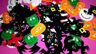 Apliques Formas En Goma Eva Cotillon Halloween