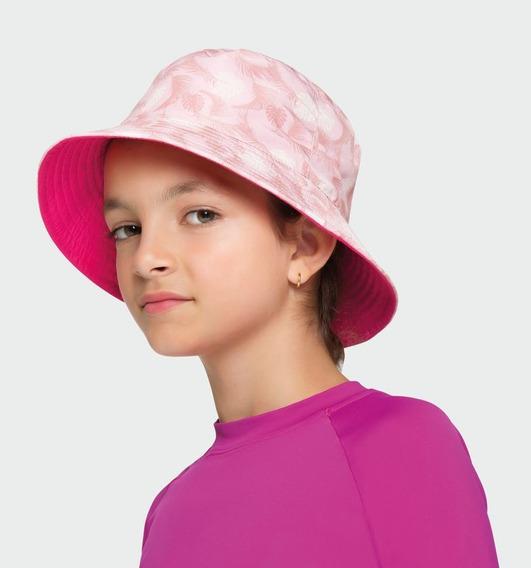 Uv Line Chapéu Napoli Flamingo Dupla Face Proteção Solar