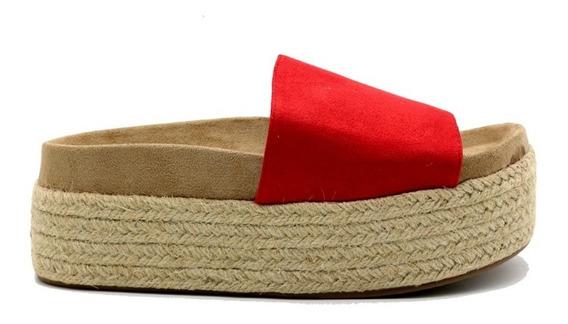 Zapatos Sandalias Mujer Dama Plataforma Rojo Leblu Z146