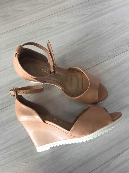 Sandália Anabela Nude Tifa Shoes