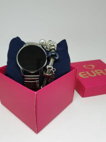 Relógio Led Feminino Touch Screen C/pulseira E Caixa Barato