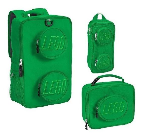 Mochilas Escolares Juveniles Backpack De Lego Verde Moderno