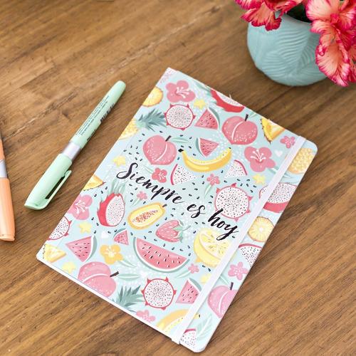 Cuaderno Rayado 64 Hojas Estampado Frutas