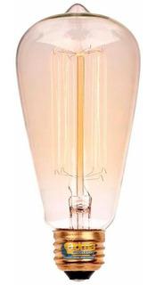 Lámpara Filamento Carbono Pera St64 25w Dimerizable Vintage