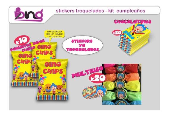 Stickers Troquelados Para Cumpleaños Candy Bar