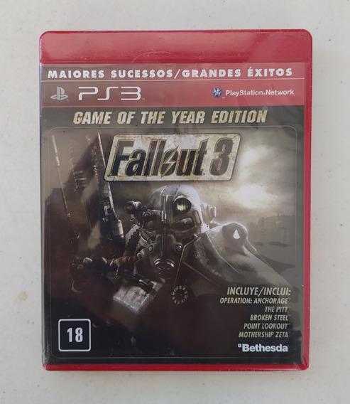 Jogo Fallout 3 - Ps3 - Mídia Física - Novo - Lacrado