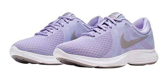 Tenis Nike Wmns Revolution 4 Lila Tallas De #22 A #27 Mujer