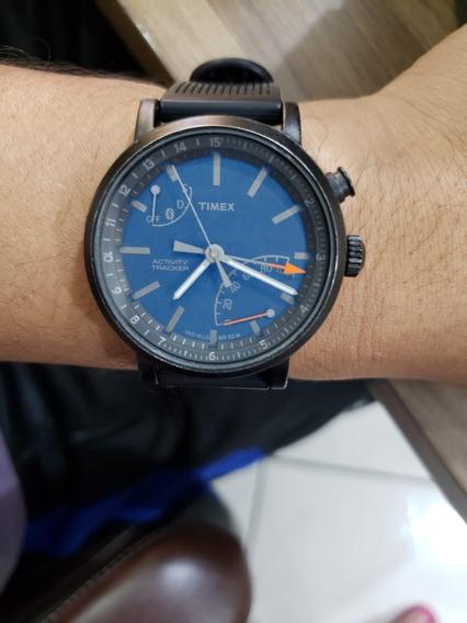Relogio Timex Metropolitan+ Bluetooth + Caixa + Manual + Pul