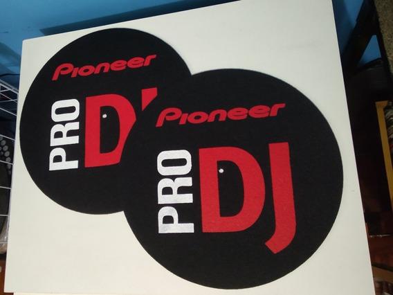Feltros Para Toca Discos Pioneer Dj Plx1000 (grosso) O Par