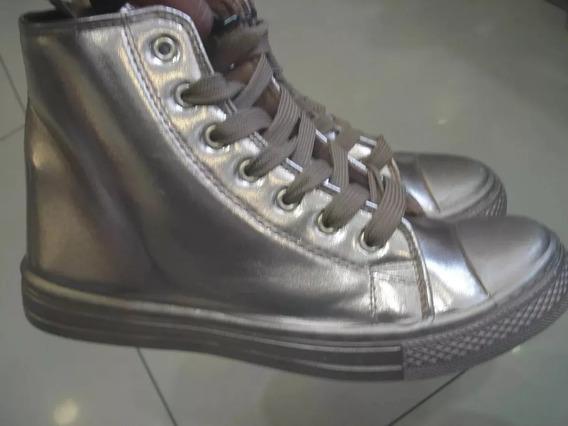 Bota Botines Dama Modelo Converse Metalizado Talla 38 Y 39