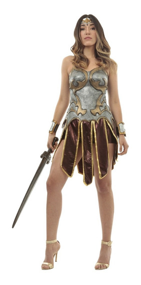 Disfraz Guerrera Romana Mujer Reina Halloween Gladiador