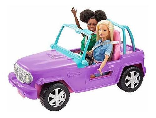R Vehiculo Todoterreno Barbie, Morado Con Asientos Rosas Y