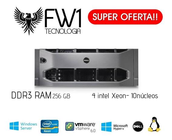 Servidor R910 4x E7-4870 2.40ghz 40-core 256gb Ddr3 5.4tb Hd