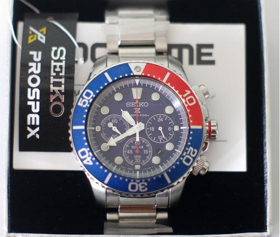 Relógio Seiko Solar Chronograph - Top - Seminovo!