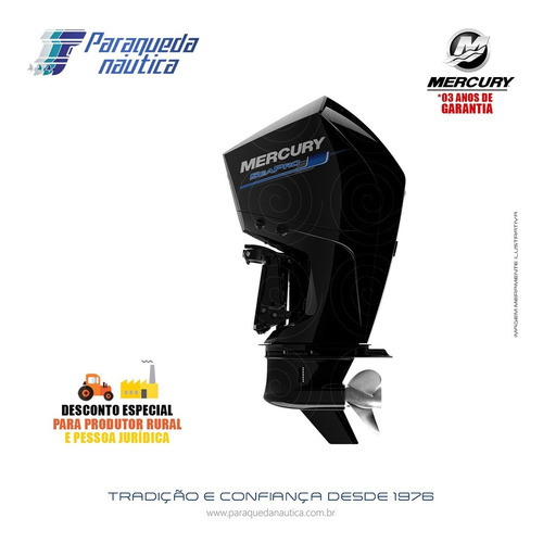 Motor De Popa Mercury 4 Tempos 300hp Cxl V8 Dts Seapro