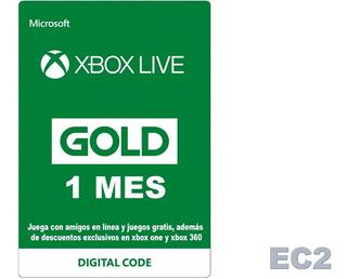 Membresía Xbox Live Gold Por 1 Mes (global) Ecdos.2